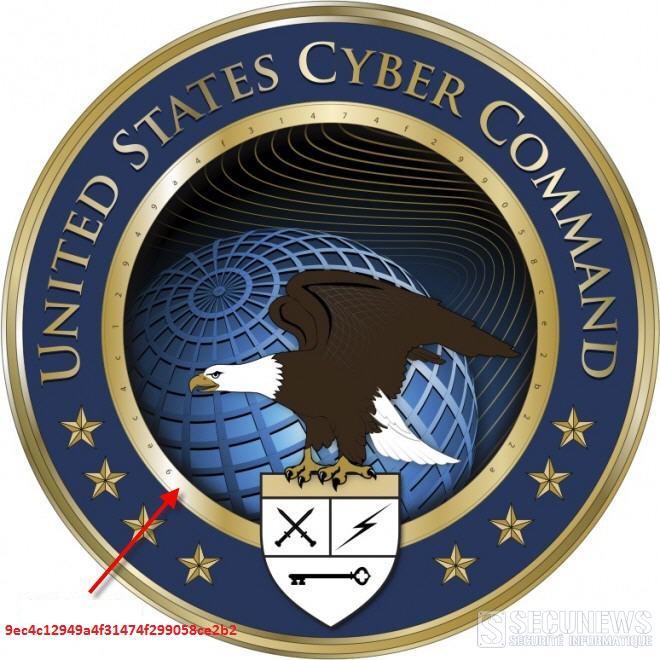 Un code cryptée glissée dans le logo du Pantagone