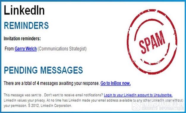 De faux e-mails de LinkedIn menacent les PC