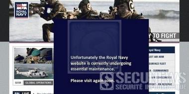 Le site Internet de la Royal Navy piraté