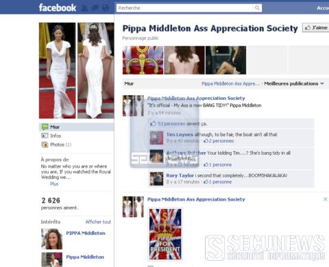 Les fesses de Pippa Middleton font fantasmer Facebook