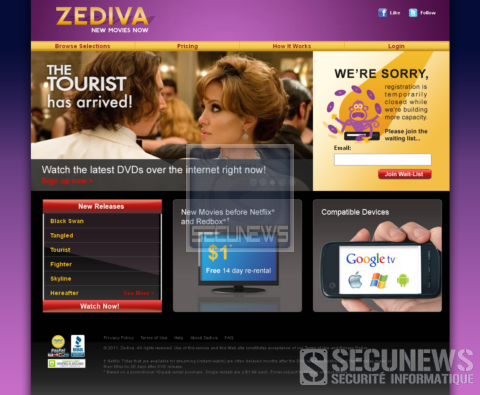 Le service de location de DVD Zediva, dérange Hollywood