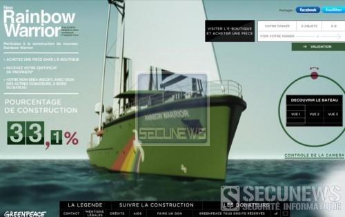 Greenpeace sollicite les internautes pour meubler son nouveau bateau