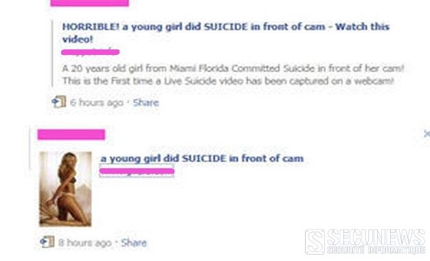 Nouveau virus Facebook le suicide d'une jeune fille face a sa webcam