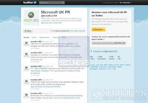 Microsoft s'excuse pour un tweet sur Amy Winehouse