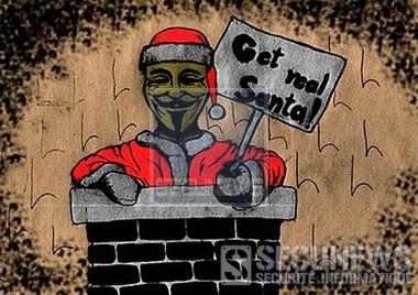 Anonymous a-t-il joué les Pére NoÎl ?