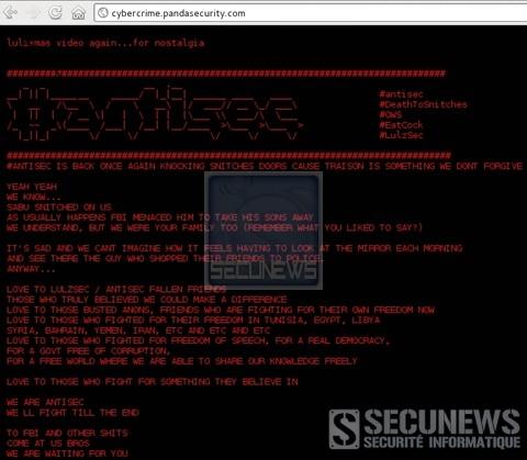 Panda Security piraté en représailles des arrestations d'anonymous