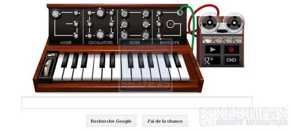 Google célébre les 78 ans de Robert Moog