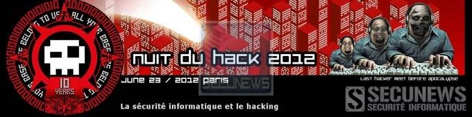 La Nuit du Hack 2012 le 23 Juin à Paris