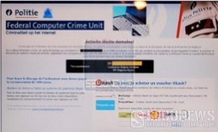 Déjà 1.500 plaintes pour le virus utilisant l'image de la police belge
