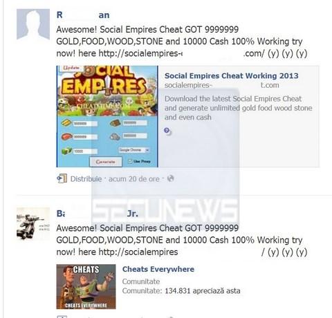 Les joueurs du jeu Social Empires visés par une arnaque d'envergure sur Facebook