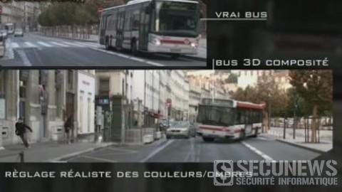 Making of du faux accident de bus a Lyon