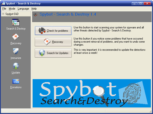 Spybot Search & Destroy