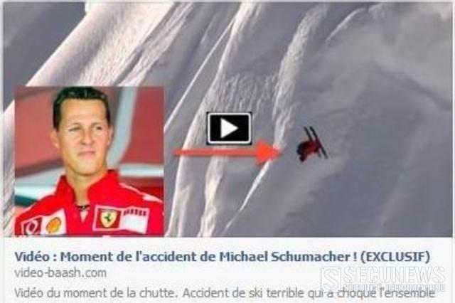 Une vidéo de la chute de Schumacher cache un virus