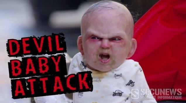 Un bébé terrorise les passants en caméra cachée pour la sortie du film devils due (2014)