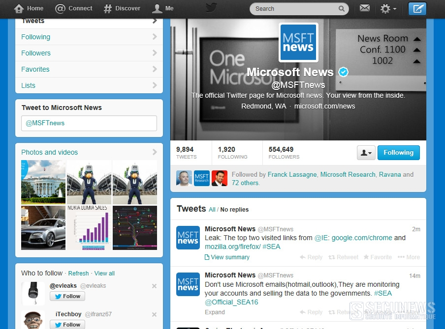 Le compte Twitter de Microsoft piraté par des activistes syriens
