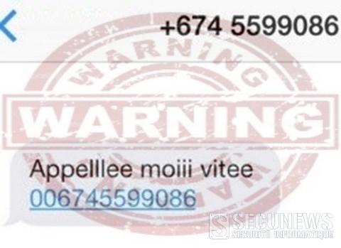 Arnaque aux SMS (Wangiri) en Belgique, en ce début d'année 2014