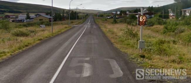 Une Google car se photographie en excès de vitesse