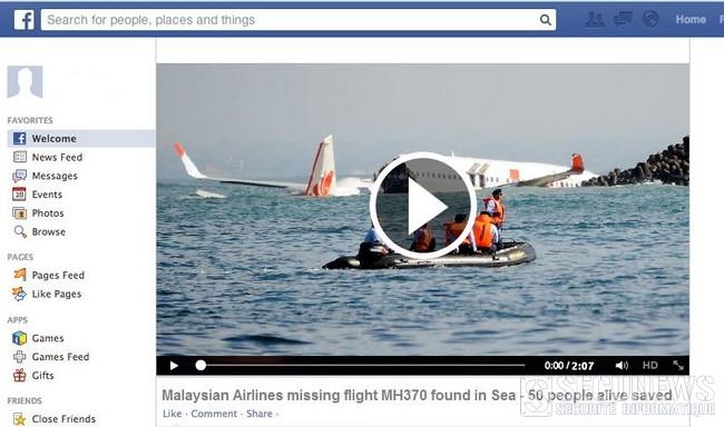 Attention aux fausses informations et vidéos sur le vol MH370