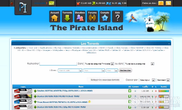 Arrestation de l'administrateur du site The Pirate Island