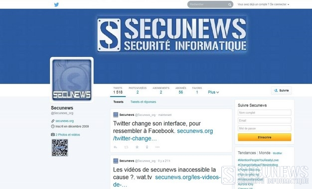 Twitter change son interface, pour ressembler à Facebook