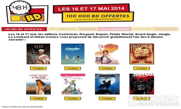 Recevez votre bande dessinée gratuite, à l occasion des 48h BD les 16 et 17 mai 2014