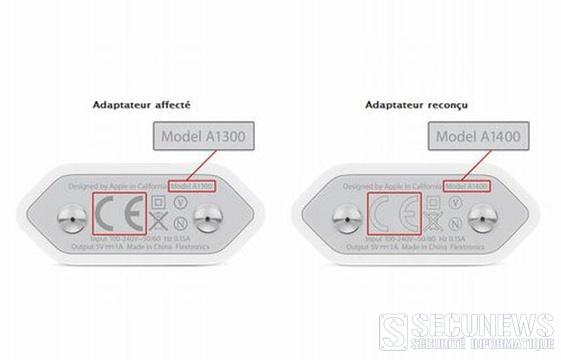Apple rappelle des chargeurs d'iPhone pour cause de surchauffe