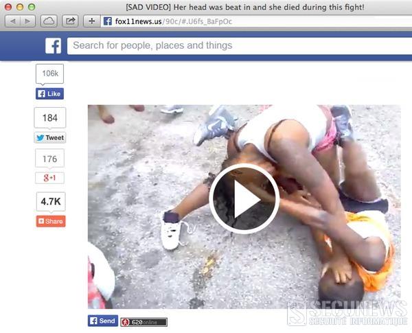 Attention à la vidéo d'une femme battue à mort sur Facebook