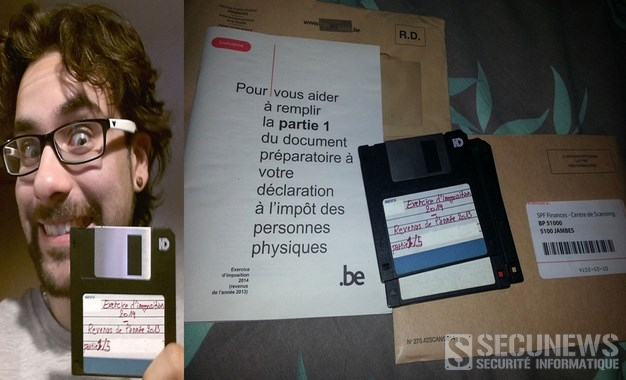 Un belge envoie sa déclaration d'impôts sur disquettes suite au scandale des votes électroniques