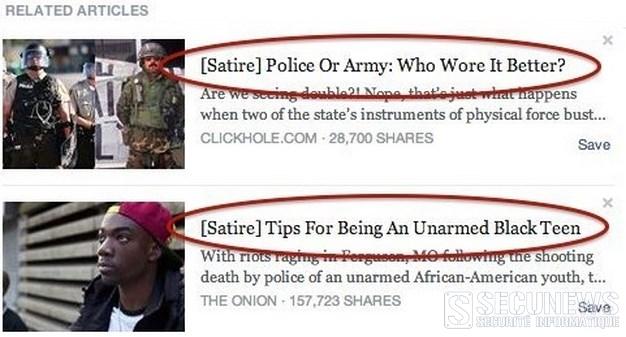 Vous êtes un internaute trop crédules ? Facebook envisage d'identifier les actus satiriques