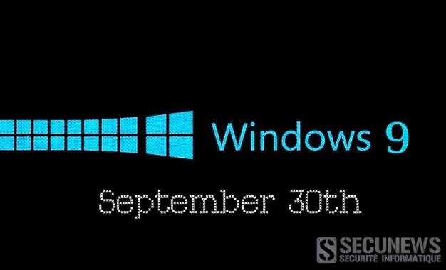 Microsoft pourrait dévoiler Windows 9 le 30 septembre 2014