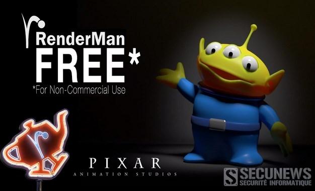 (bon plan) Télécharger le logiciel d'animation 3D RenderMan développé par Pixar gratuitement