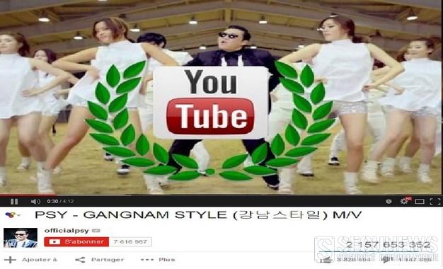 Gangnam Style a fait buguer Youtube
