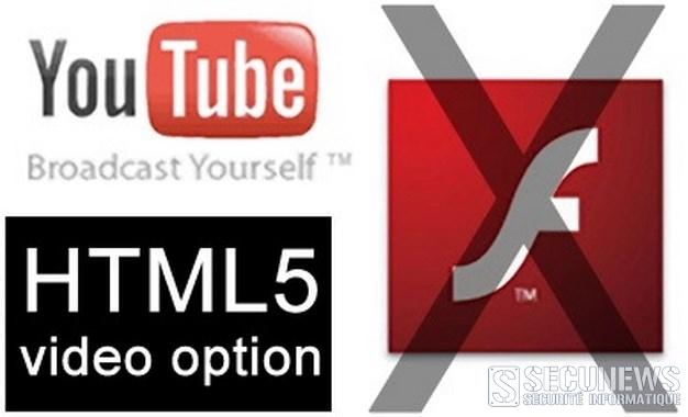 YouTube abandonne Flash Player pour le HTML5