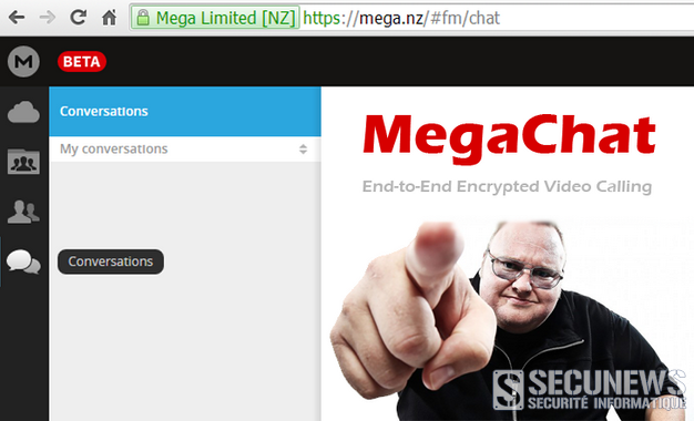 Kim Dotcom lance MegaChat sa messagerie sécurisée en version bêta