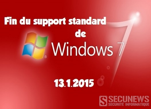 Fin du Support standard de windows Seven le 13.1.2015