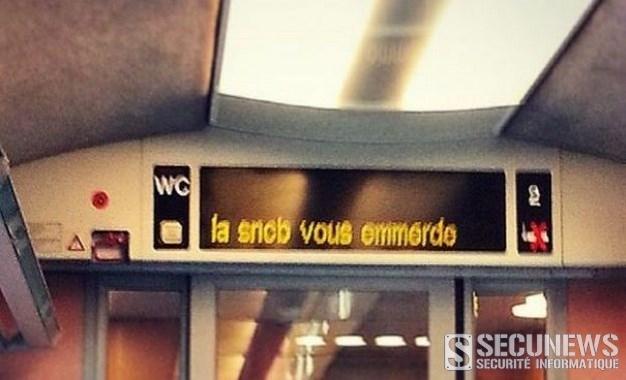 «La SNCB vous emmerde», le message étonnant découvert à bord d'un train