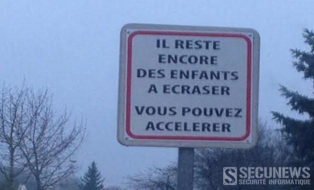 Il reste des enfants à écraser, vous pouvez accélérer, la campagne choc d'un Maire français