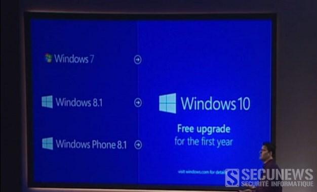La mise à niveau vers Windows 10 gratuite aussi pour les utilisateurs illégaux