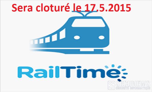 Railtime, c'est fini le 17 avril 2015, du moins sous sa forme actuelle