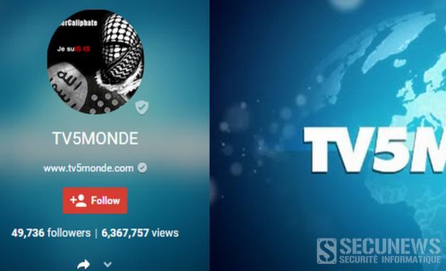 Des hackers se réclamant du groupe terroriste ÉI piratent TV5Monde