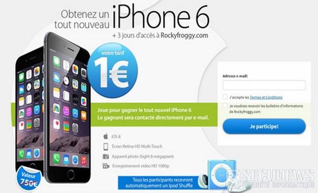 Les fausses offres d'iPhone à 1 euro se multiplient sur le web