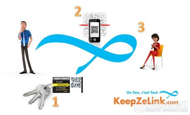 Avec keepzelink ajoutez un qr code personnalisé a vos objets précieux