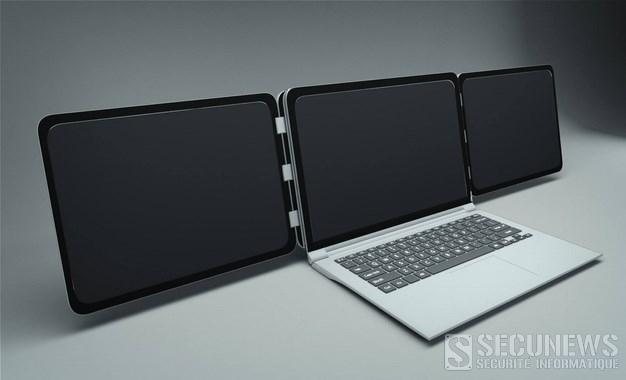 Sliden'Joy, une invention Belge qui permet de démultiplier les écrans d'un ordinateur portable