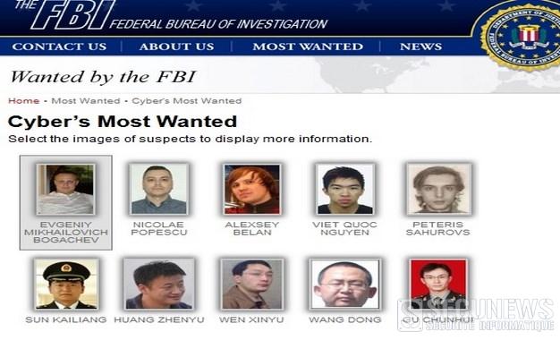Top 10 des pirates les plus recherchés par le FBI (juillet 2015)
