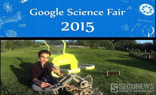 Un jeune Français de 14 ans en finale du Google Science Fair avec son robot Bot2karot