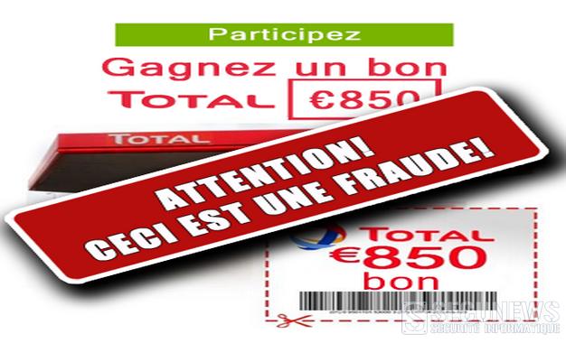 dec85a04d7f7f Total Belgium met en garde contre une arnaque par phishing annonçant des  pleins gratuits