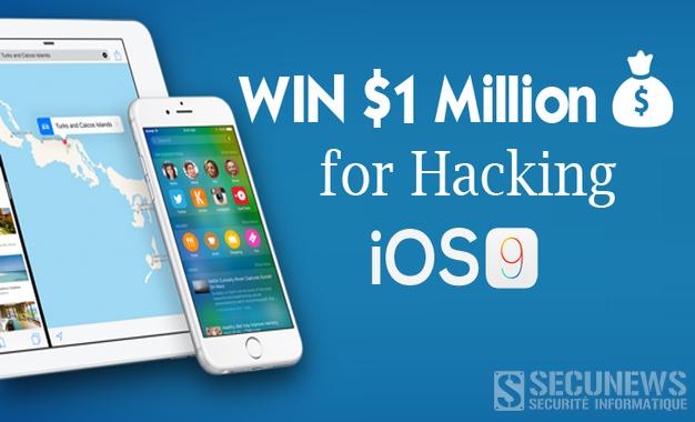 Une récompense d'un million de dollars à qui piratera l'iOS9 d'Apple