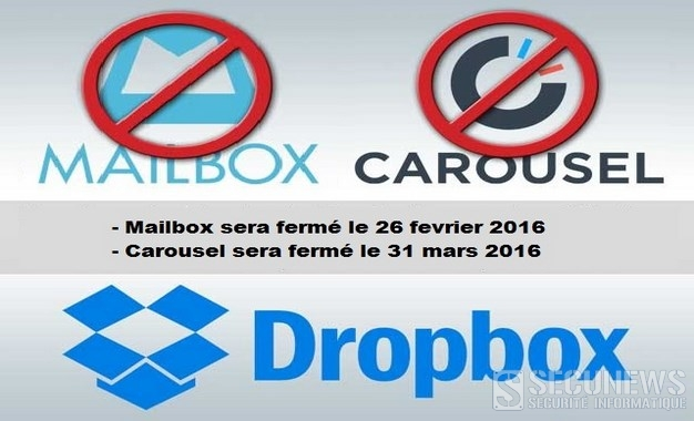 Dropbox va fermer ses applications Carousel et Mailbox