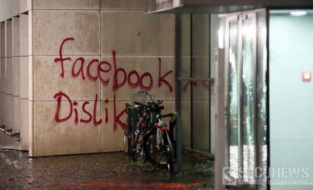Le siège allemand de Facebook à Hambourg à été vandalisé