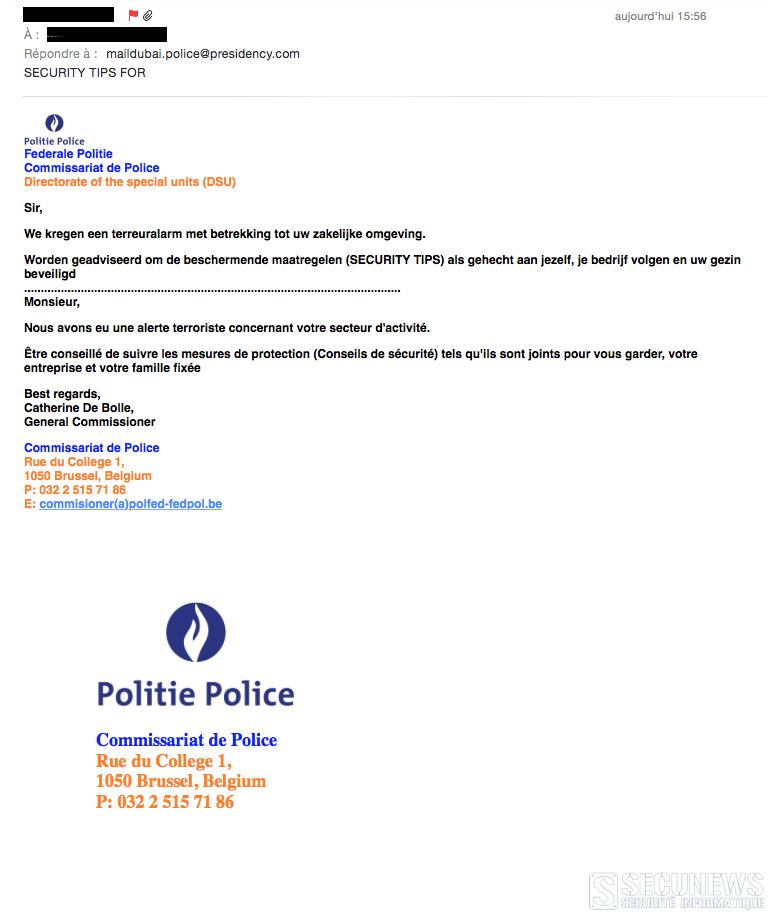 police fake mail